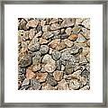 Gravel Stones Framed Print