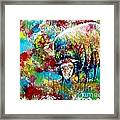 Grazing Sheep Framed Print