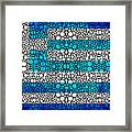 Greek Flag - Greece Stone Rock'd Art By Sharon Cummings Framed Print