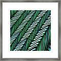 Green And Blue Folds Framed Print