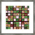Green And Brown Sudoku Framed Print