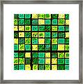 Green And Yellow Sudoku Framed Print