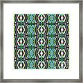 Green Geometric Abstract Pattern Framed Print
