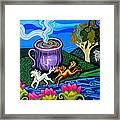 Green Goddess Coffee Framed Print