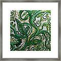 Green Meditation Framed Print