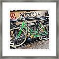 Green Schwinn Bike  Nyc Framed Print
