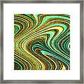 Green Swirls Mind Bend Framed Print
