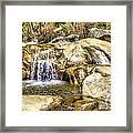 Green Valley Falls Winter Framed Print