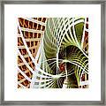 Green Weave Framed Print