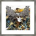 Griffin In Waterfall Framed Print