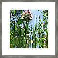Ground Level Flora Framed Print