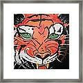 Growling Tiger Framed Print
