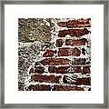 Grunge Brick Wall Framed Print