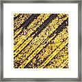 Grunge Dirty Yellow Texture Framed Print