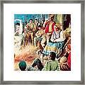 Gypsies Partying Framed Print