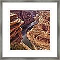 Half Of Horshoe Bend - Page Az Framed Print