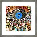 Hamsa Cat Blessing Framed Print