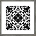 Hand Drawing Pattern For Tile In Black Framed Print