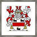 Handcock Coat Of Arms Irish Framed Print