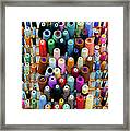 Hanging By Many Threads Framed Print