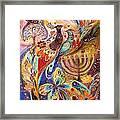 Hanukkah In Magic Garden Framed Print