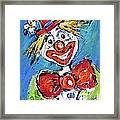 Happy Clown-ideal For Childrens Nurserys Framed Print