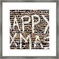 Happy Xmas Framed Print