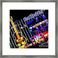 Hard Rock Vegas Framed Print