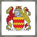 Harkan Coat Of Arms Irish Framed Print