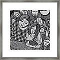 Harlequin And The Masked Moon Framed Print