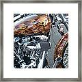 Harley Close-up Skull Flame  Framed Print