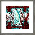 Harmonious Colors - Red White Turquoise Framed Print