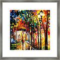 Harmony - Palette Knife Oil Painting On Canvas By Leonid Afremov Framed Print