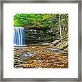 Harrison Wright Falls Panorama Framed Print