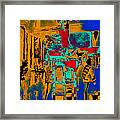 Harry Houdini And The Chinese Water Torture In Abstract Framed Print by Wingsdomain Art and Photography