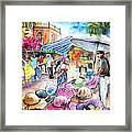 Hat Shopping At Turre Market Framed Print