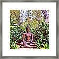 Hawaiian Garden Buddha  Framed Print