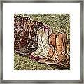 Boot Stomp Framed Print