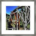 Haywood Cc Grist Mill Wheel Framed Print