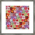 Heart Patches Framed Print