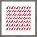 Heart Patterns Framed Print