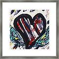 Heart With Wings Framed Print