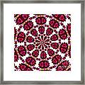 Hearts And Orchids Kaleidoscope Framed Print