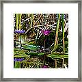 Heat Of The Afternoon - Down At The Lily Pond Iv Framed Print