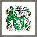 Heaton Coat Of Arms Irish Framed Print