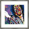 Hendrix Framed Print by Maria Arango