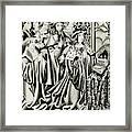 Henry Vi And His Court At  Prayer Framed Print
