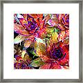 Hens And Chicks Series - Garden Brass Framed Print