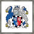 Herbert Coat Of Arms Irish Framed Print