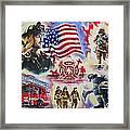 Heroes American Firefighters Framed Print